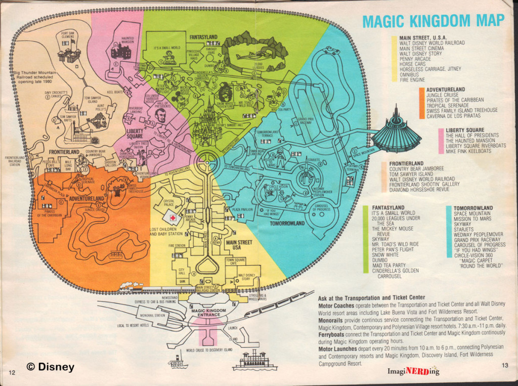 Slobbery image for magic kingdom printable map