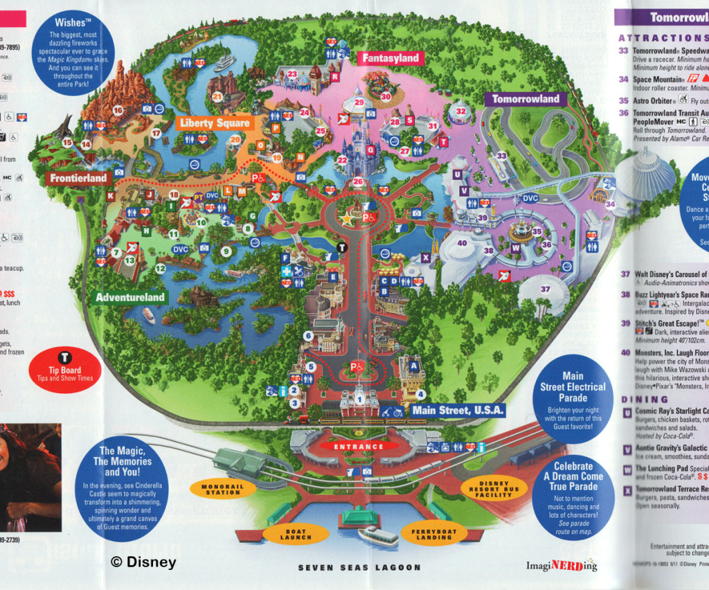 2016 Magic Kingdom Map Printable Related Keywords & Suggestions - 2016 ...