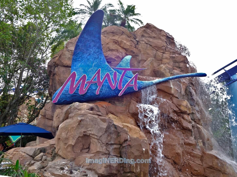 Manta Seaworld Roller Coaster