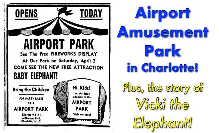 airport amusement park Charlotte